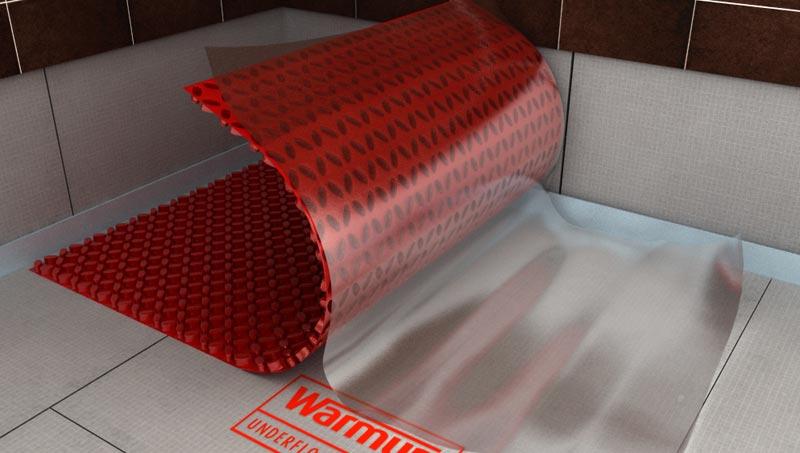 Die DCM-PRO Entkopplungsmatte mit selbstklebender Fläche