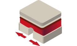 Mit Entkopplungsmatten unter der Fußbodenheizung kann sich die Klebefläche ausdehenen und wieder zusammenziehen.