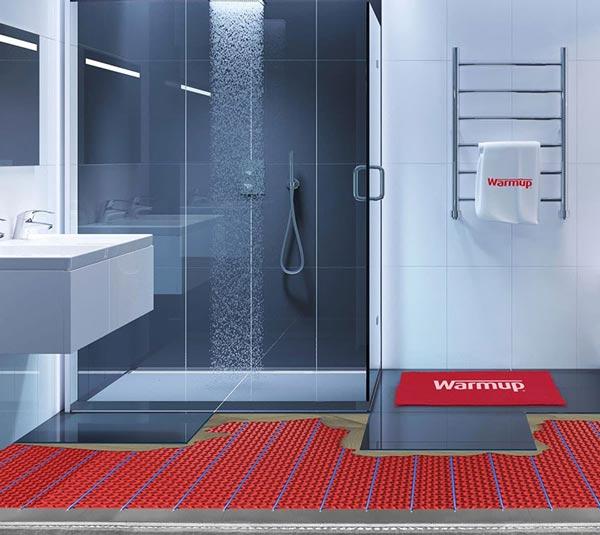Fußbodenheizung unter Dusche & im Nassbereich | Warmup