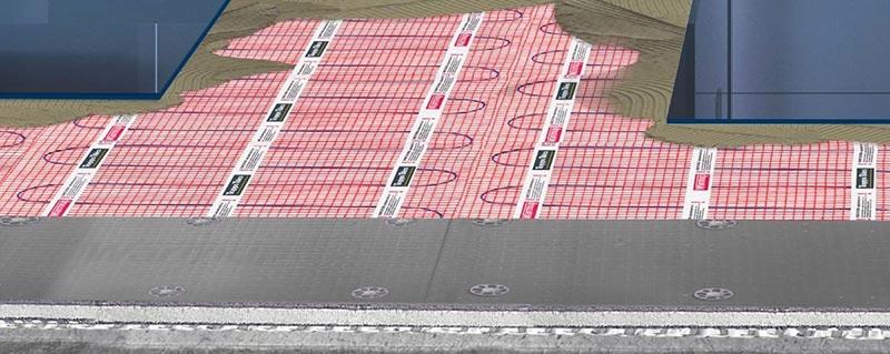 Turbo Fußbodenheizung unter Dusche & im Nassbereich | Warmup OS05