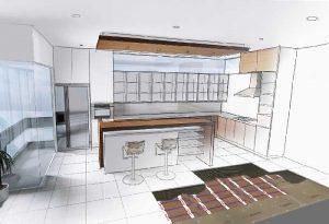 Die Fußbodenheizung planen: Wohlfühloase Küche
