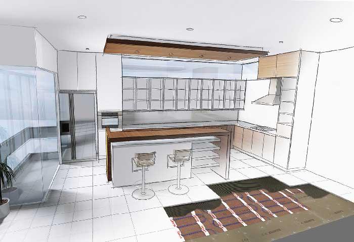Fußboden In Küche ~ Planen sie eine fußbodenheizung in ihrer küche warmup