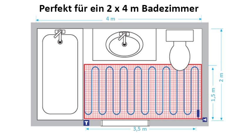 Gut bekannt Leitfaden zur Heizleistung einer Fußbodenheizung | Warmup AO04
