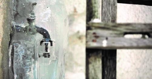 Gefrorener Wasserhahn